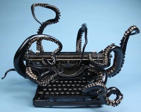 Courtney Brown Octopus Typewriter