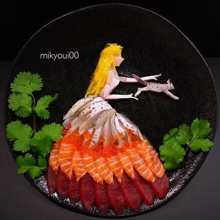 Sashimi Raw Fish Art