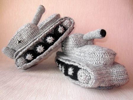 Knitted Tank Slippers