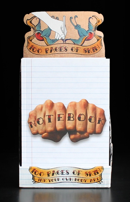 SUCK UK Tattoo Art Drawing Notebook