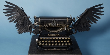 Typewriter with Wings