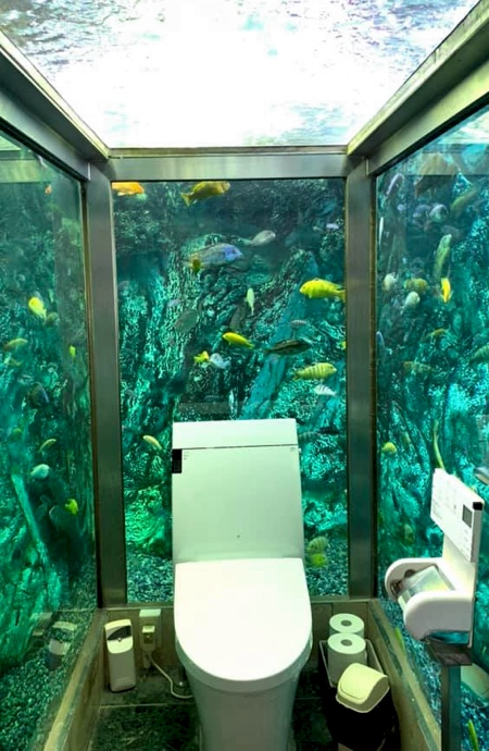 Aquarium Toilet in Japan