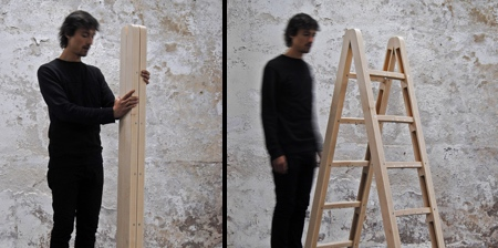 Folding Wooden Ladder