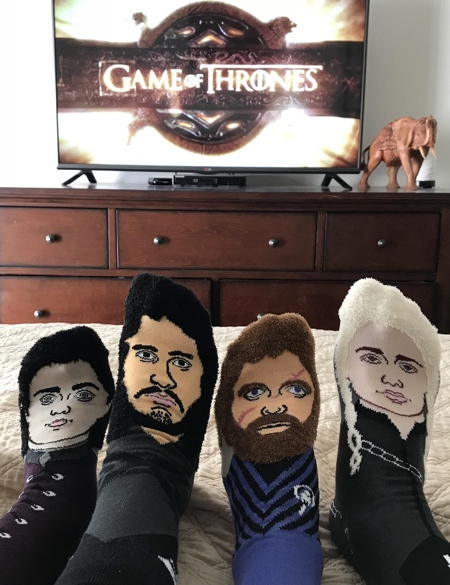 Game of Thrones Watch Party Socks
