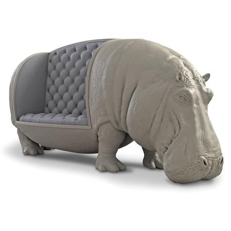 Realistic Hippo Sofa