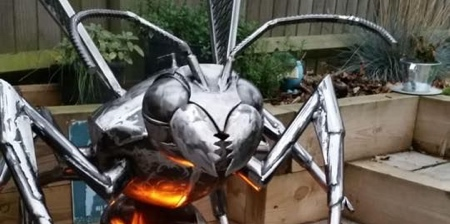 Fighting Hornet Fire Pit