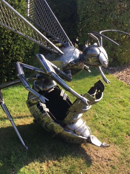 The Fighting Hornet Fire Pit