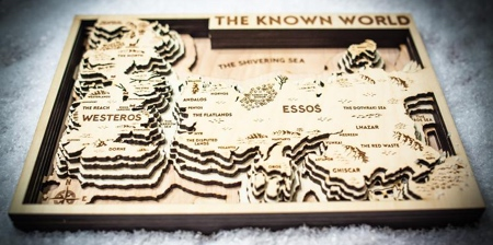 Game of Thrones 3D Wood Maps