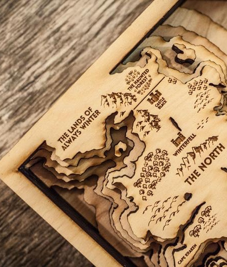 Game of Thrones 3D Map