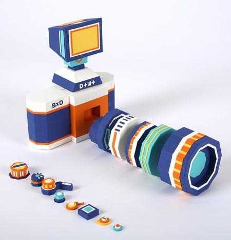 Camera Paper Sculpture