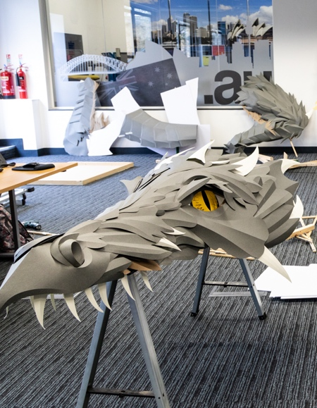 Dragon Made of Paper