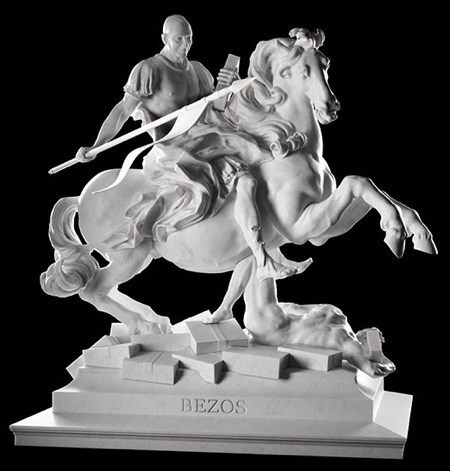Jeff Bezos Statue