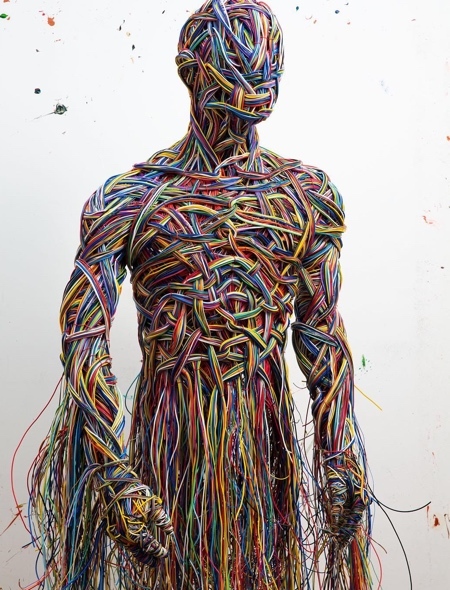 Human Made of Wire