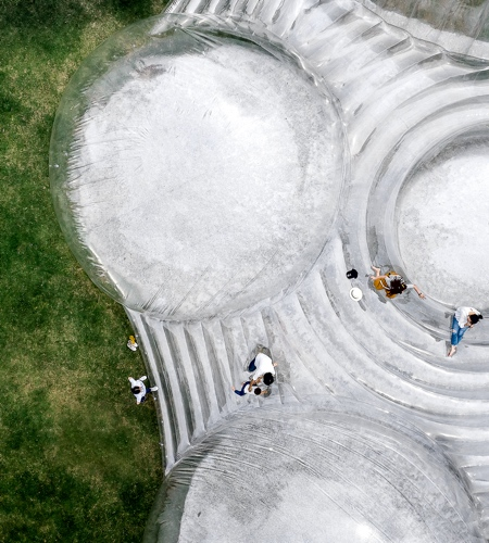 Inflatable Mountain in China