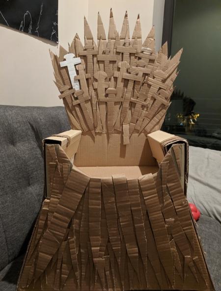Cardboard Iron Throne