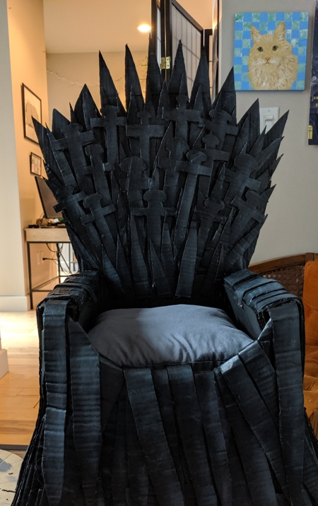 Game of Thrones Cardboard Iron Throne