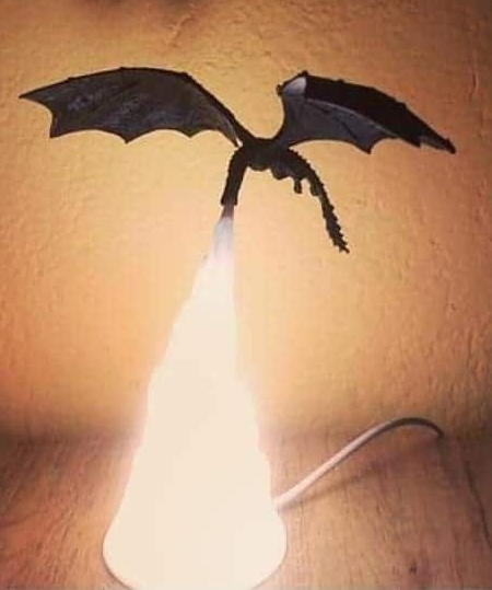 Fire Breathing Dragon Lamp