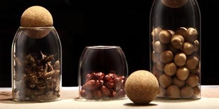 Round Cork Jars