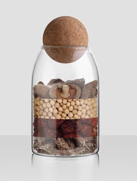 Round Cork Jar