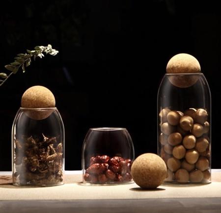 Palo Round Cork Jars