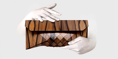 Wooden Clutch Purse