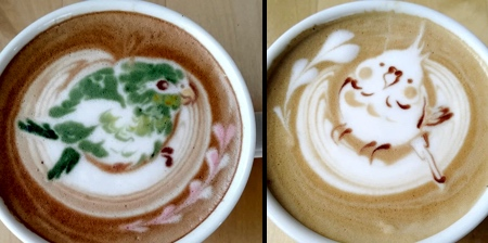 Birds Coffee Art