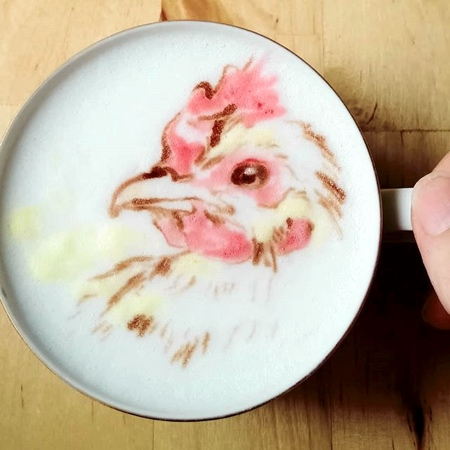 kunit92 Birds Coffee Art