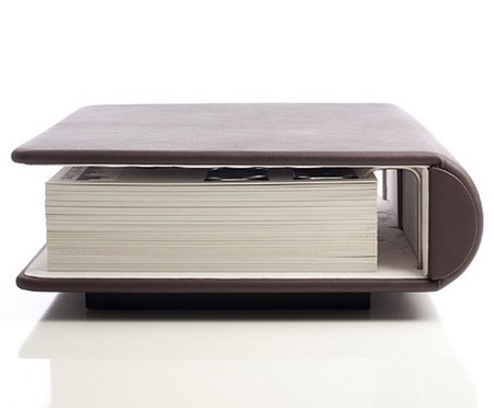 Leather Book Coffee Table