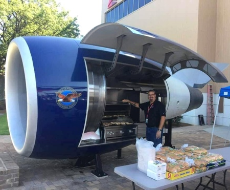 Airplane Engine Barbecue Grill