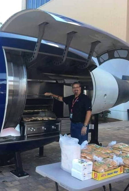 Boeing 757 Barbecue Grill