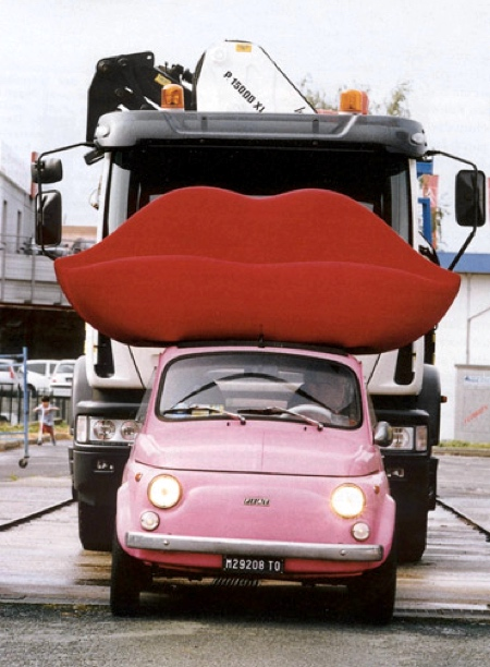 Lipstick Sofa