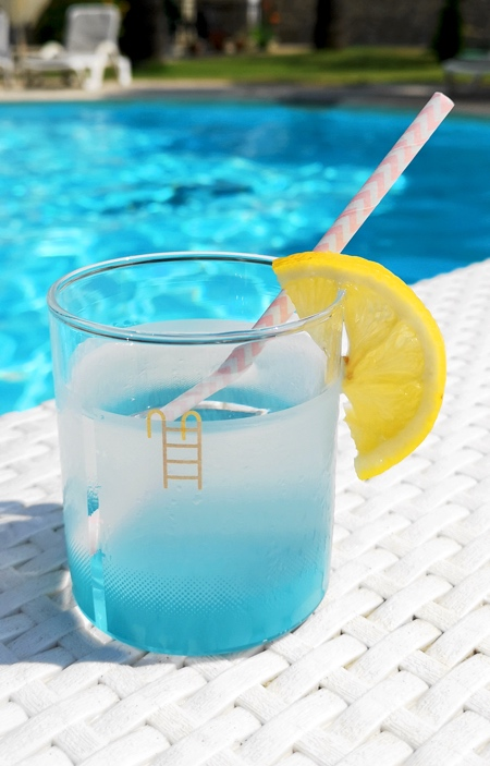 Pool Drinking Glass