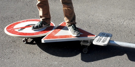 Traffic Sign Skateboard