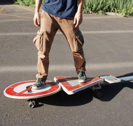 Street Sign Skateboard