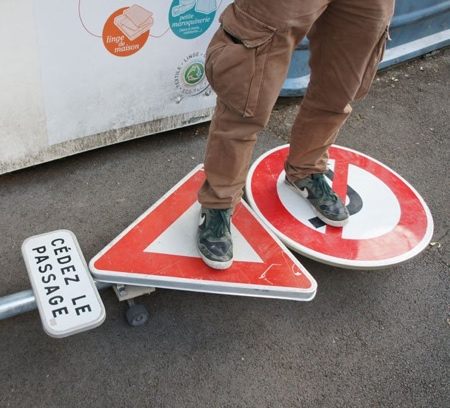 Road Sign Skateboard