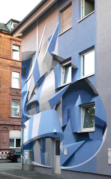 3D Street Art Building