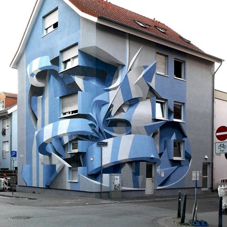 3D Street Art Apartment Building