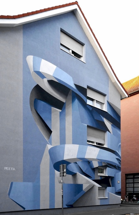 Peeta 3D Street Art Building