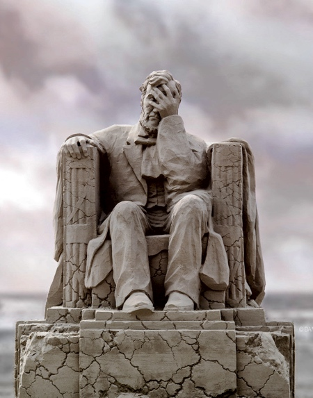 Facepalming Abraham Lincoln