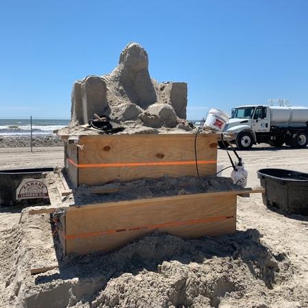 Damon Langlois Sand Sculpture