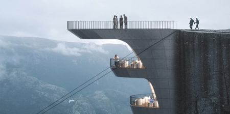 Cliff Hotel in Norway