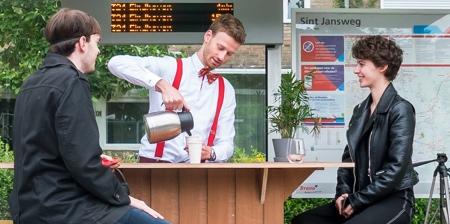 Coffee Shop Bus Stop