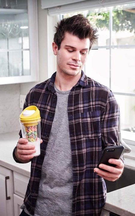 Portable Cereal Cup