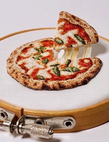Embroidery Pizza