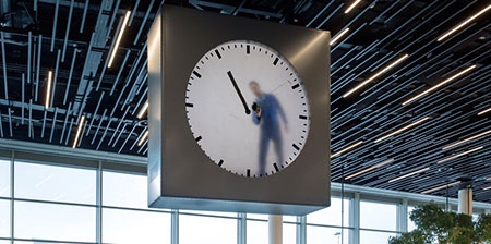 Human Operated Clock