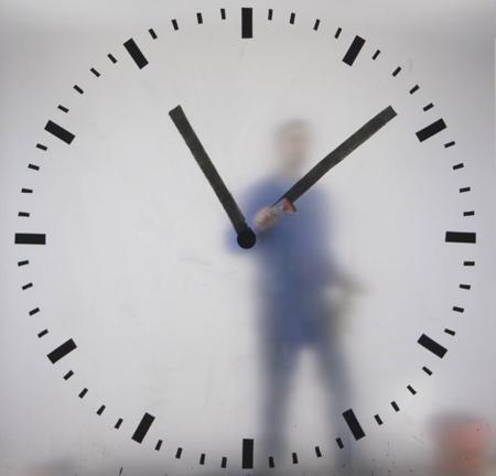 Human Inside a Clock