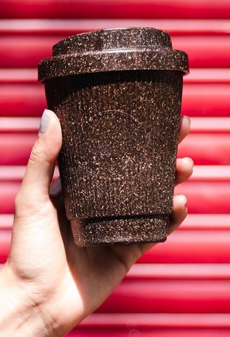 Cups Made of Coffee Grounds