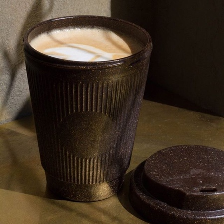 Cup Made of Coffee Grounds