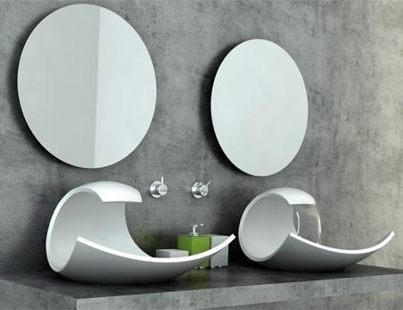 Wave Bathroom Sink