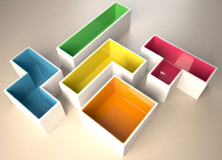 Stephanie Choplin Tetris Pots